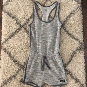 Gray one piece tracksuit